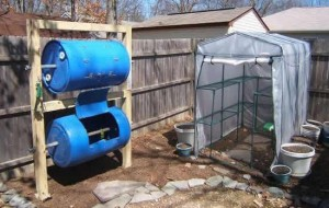 Double Barreled Composter